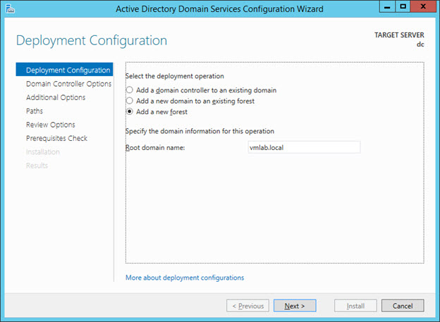 Promote to Domain Controller - Add New Forest