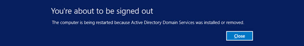 Promote to Domain Controller - Restart