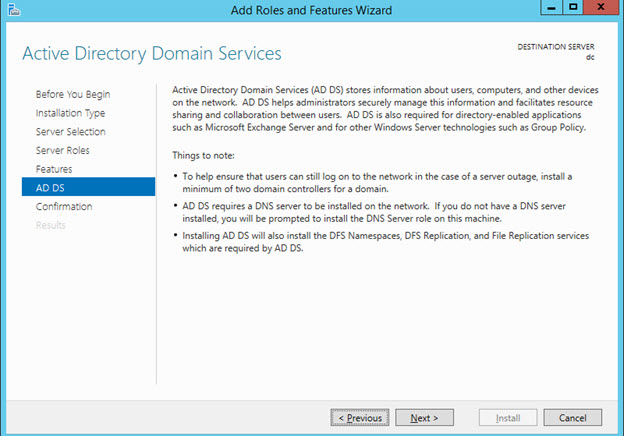 Setup ADDS Role (Active Directory Domain Services) - AD DS Summary