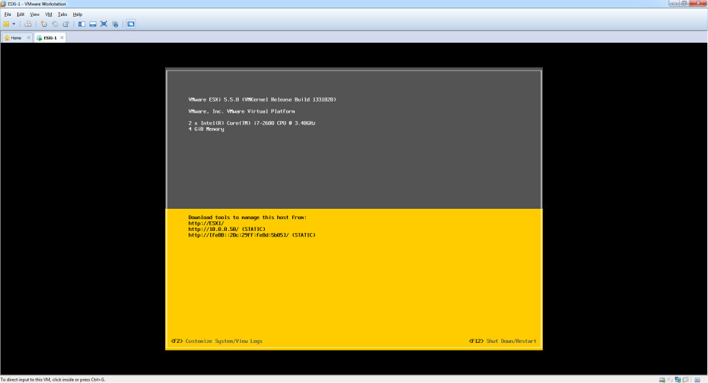 Configure – Hostname, IP Address, Gateway, DNS on ESXi 5.5 - Config Complete2