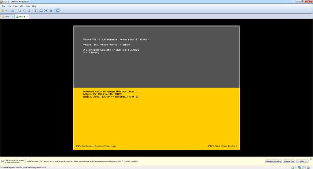 Configure – Hostname, IP Address, Gateway, DNS on ESXi 5.5 - First Boot