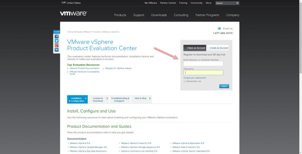 Download ESXi 5.5 software from VMware - Login