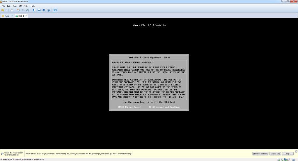 Install ESXi 5.5 - Accept EULA