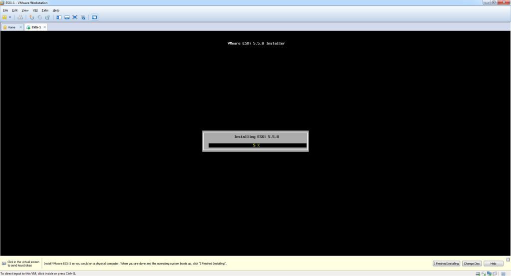 Install ESXi 5.5 - Installing