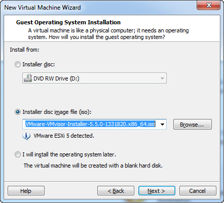Set-Up Virtual Machine in VMware Workstation - Start Wizard